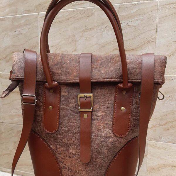 کیف دستی زنانه پارچه و چرم